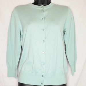 J.CREW Mint Green The Clare Cardigan